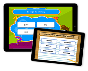 Vocabulary A-Z on the iPad, Android, & Kindle Fire